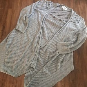 AEO Grey Open Cardigan